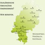 Beratungsstandorte in Hessen der IQ Anerkennungsberatung