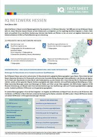 Seite 1 das Fact Sheets des IQ Netzwerks Hessen