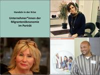 Ausschnitte von Unternehmer*innen-Porträts