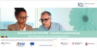 Titelbild des Flyers der IQ Hotline Anerkennung in Hessen