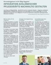 clavis-Artikel des IQ Netzwerks Hessen zum Integrationsprozess in der Pflege